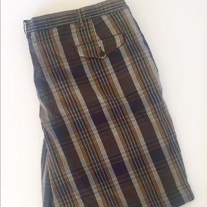 Ralph Lauren Polo Plaid Cotton Shorts 46B Brown